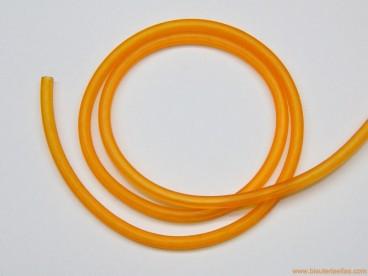 Cordón caucho hueco 4mm naranja
