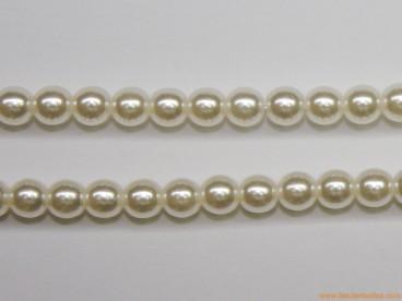 Bola perla cristal Ø4mm blanca