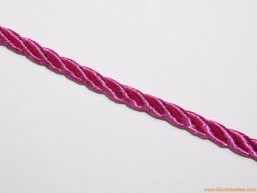 Cordón de poliester 5mm fucsia