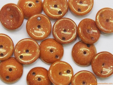 Piggy Beads 8mm marrón cerámico