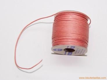 Cordón encerado 0,5mm rosa (25 m.)