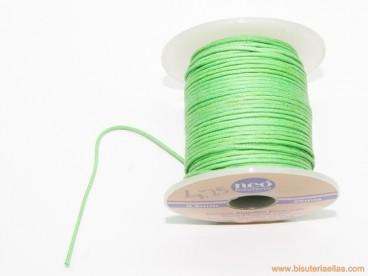 Cordón encerado 0,5mm verde loro (25 m.)