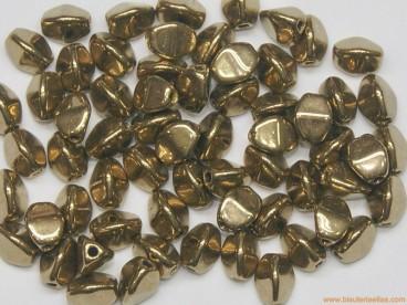 Rocalla Pinch 5x3mm dorado metálico