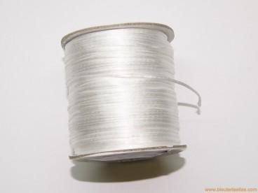 Cordón cola de ratón 1mm blanco