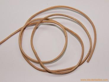 Cordón cuero 2mm natural