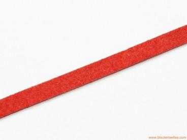 Tira de ante 5mm rojo