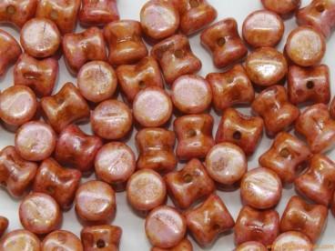 Rocalla diábolo 4x6mm coral jaspeado