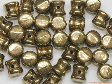 Rocalla diábolo 4x6mm dorado metálico
