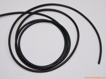 Cordón caucho hueco 3mm negro