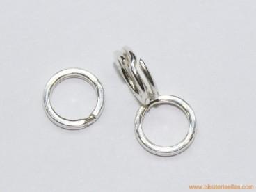 Anilla en plata Ø7mm doble