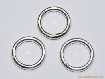 Anilla soldada en plata Ø15mm hilo 2,2mm