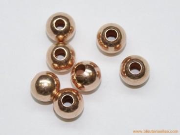 Bola en plata chapada cobre Ø10mm paso 3,5mm