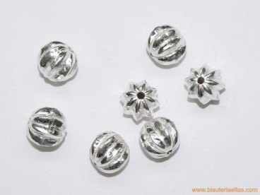 Bola gallonada en plata 10mm