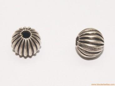 Bola gallonada en plata 10mm