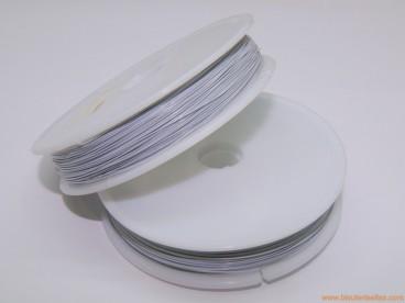 Hilo de acero encamisado 0,45mm blanco