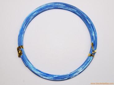 Aluminio redondo 1mm azul (10 m.)