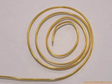 Aluminio redondo 1mm dorado