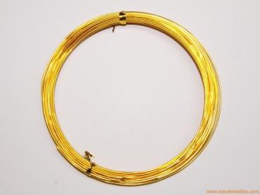 Aluminio redondo 1mm dorado (10 m.)