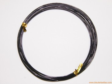 Aluminio redondo 1mm negro (10 m.)