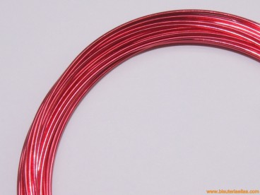 Aluminio redondo 1mm rojo (10m.)