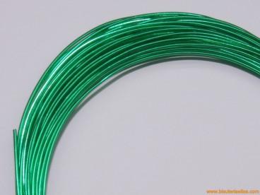 Aluminio redondo 1mm verde (8m.)