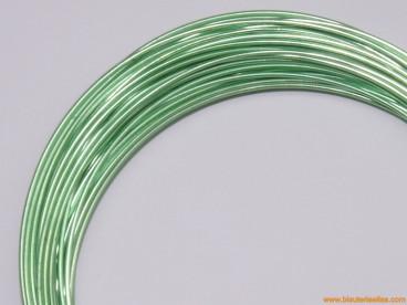 Aluminio redondo 1mm verde claro (10m.)