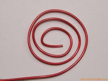 Aluminio redondo 1,5mm rojo