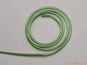 Aluminio redondo 1,5mm verde