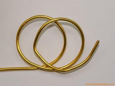 Aluminio redondo 2mm amarillo
