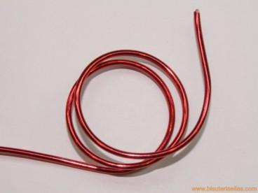 Aluminio redondo 2mm rojo