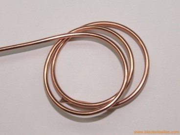 Aluminio redondo 2mm rosa pálido