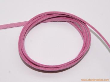Tira de ante 3mm rosa