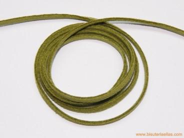 Tira de ante 3mm verde claro