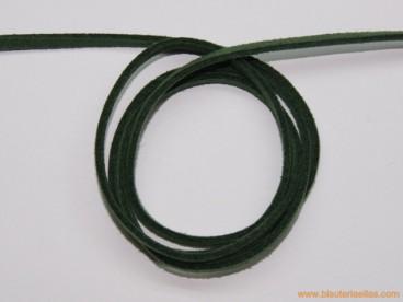 Tira de ante 3mm verde oscuro