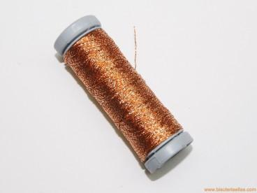 Hilo metalizado 2 cabos para bolillo cobre