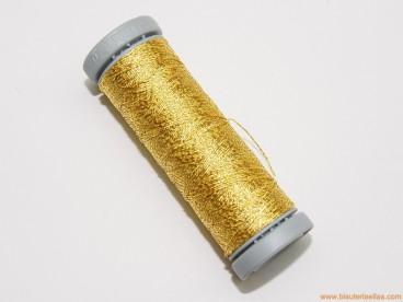 Hilo metalizado 2 cabos para bolillo dorado