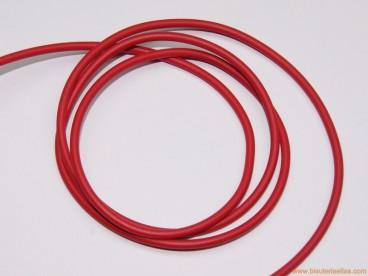 Cordón caucho macizo 3mm rojo