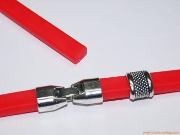 Pulsera de caucho 10x6mm (regaliz) rojo