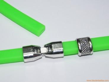 Pulsera de caucho 10x6mm (regaliz) verde fluorescente