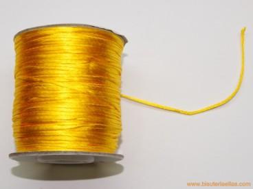 Cordón cola de ratón 1mm amarillo