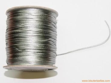 Cordón cola de ratón 1mm plata