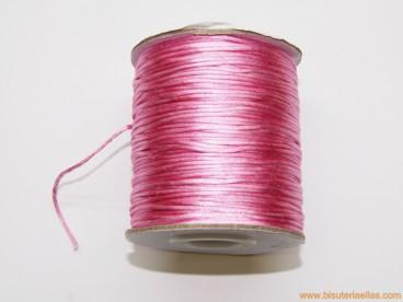 Cordón cola de ratón 1mm rosa bebé