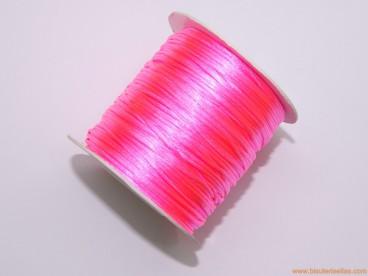 Cordón cola de ratón 1mm rosa fluor