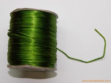 Cordón cola de ratón 1mm verde oliva