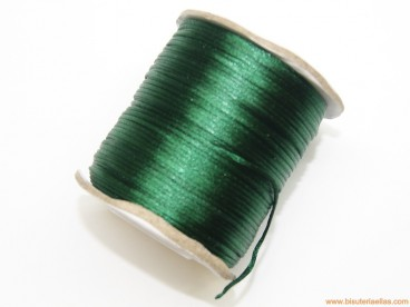Cordón cola de ratón 1mm verde oscuro