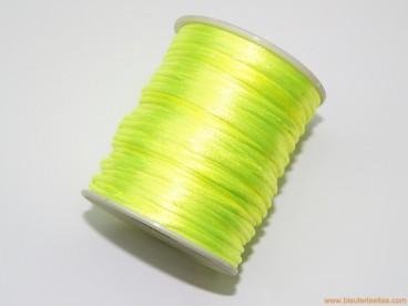 Cordón cola de ratón 2mm amarillo fluorescente (50 m.)