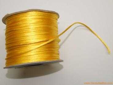 Cordón cola de ratón 2mm amarillo oro (100 m.)