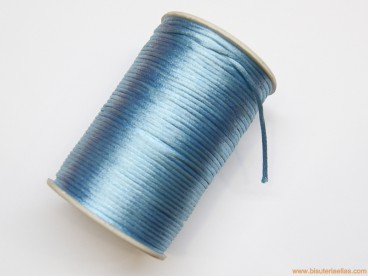 Cordón cola de ratón 2mm azul bebé (100 m.)