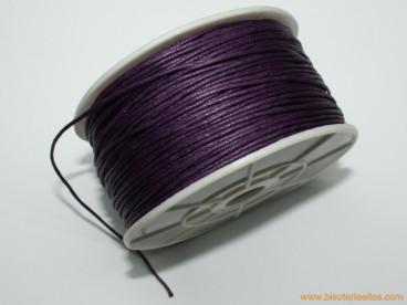 Cordón encerado 1mm lila