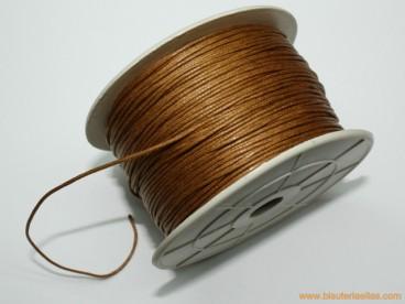 Cordón encerado 1mm marrón (100 m.)